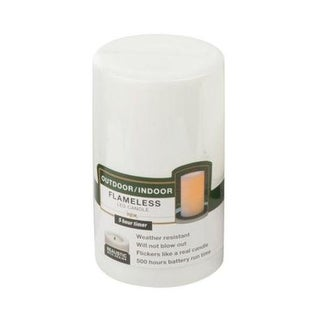 """Northern CGT20305WH Outdoor Flameless Candle, White, 3"""" x 5"""""""