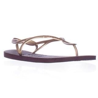 Havaianas Luna Gladiator Sandals - Aubergine