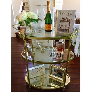 Madison Park Signature Lauren Antique Gold Bar Cart
