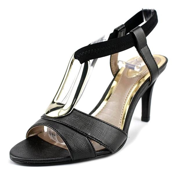 Alfani Destyne Women  Open-Toe Canvas Black Slingback Heel