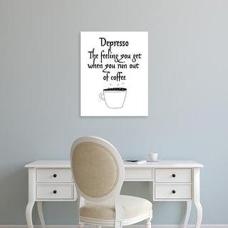 Easy Art Prints Jan Weiss's 'Depresso' Premium Canvas Art