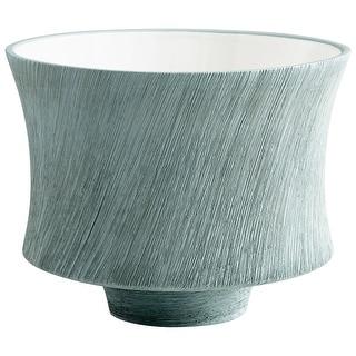 "Cyan Design 08737  Selena 9-3/4"" Diameter Ceramic Planter - Oyster Blue"