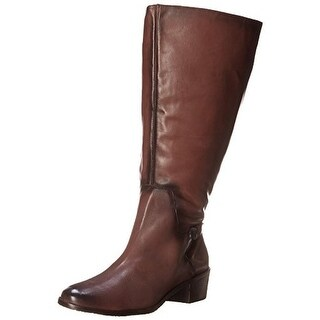 Rose Petals by Walking Cradles Womens Curly Leather Wide Calf Riding Boots - 8 medium (b,m)