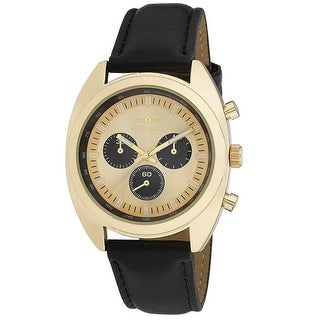 Link to Gianello Mens Tri Faux Chrono Round Case Strap Watch Similar Items in Men's Watches