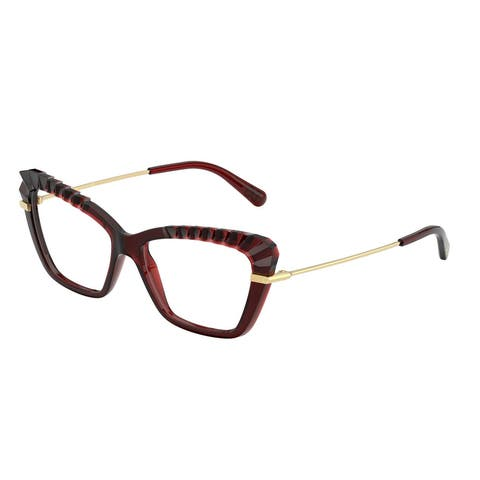 Dolce & Gabanna DG5050 550 54 Transparent Red Womens Cat Eye Eyeglasses