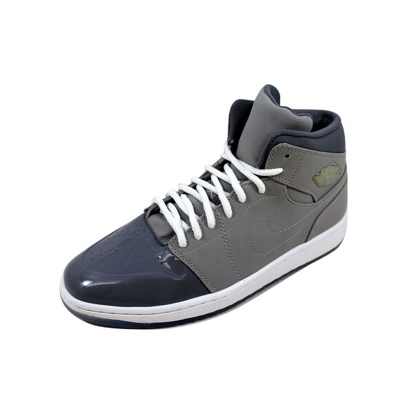 e51f7b5d0c32b9 Shop Nike Men s Air Jordan I 1 Retro  95 Medium Grey White-Cool ...