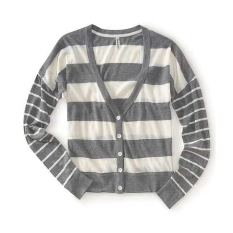 Aeropostale Womens Lightweight Stripe Knit Sweater