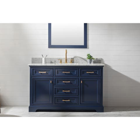 "Milano 54"" Single Vanity in Blue"