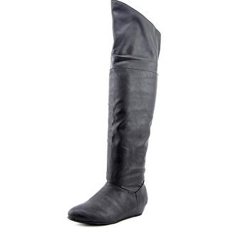 Chinese Laundry Turbo Charged Women Round Toe Synthetic Black Over the Knee Boot