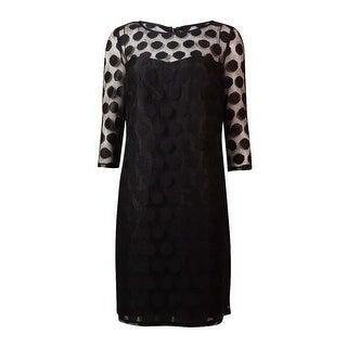 Betsey Johnson Women's Polka-Dot Lace Shift Dress