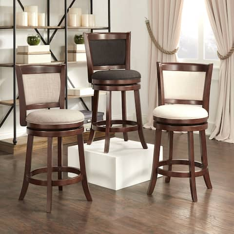 Verona Panel Back Swivel Counter Height Stool by iNSPIRE Q Classic