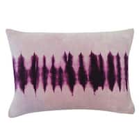 Vivai Home Purple Blinds Tie Dye Pattern 14x 12 Cotton Feather Pillow