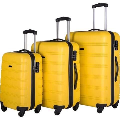 """3Pcs Luggage Set Hardside Spinner Suitcase with TSA Lock,20""""/24""""/28"""""""