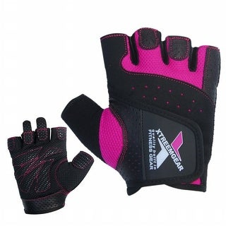 Women Weight Lifting Gym Gloves Ladies Crossfit Training Bodybuilding Fitnes G7Pink. - Pink