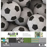 """Paper House Paper Crafting Kit 12""""X12""""-Soccer"""