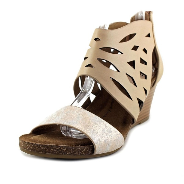 Sofft Riona Women Open Toe Leather Pink Platform Sandal