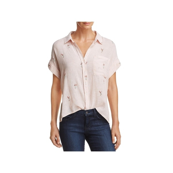 f50606ba Shop Rails Womens Whitney Button-Down Top Linen Printed - XS - Free ...