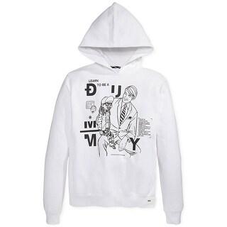 Rocawear Blak Ventriloquist Fleece Hoodie Sweatshirt White Hoodie