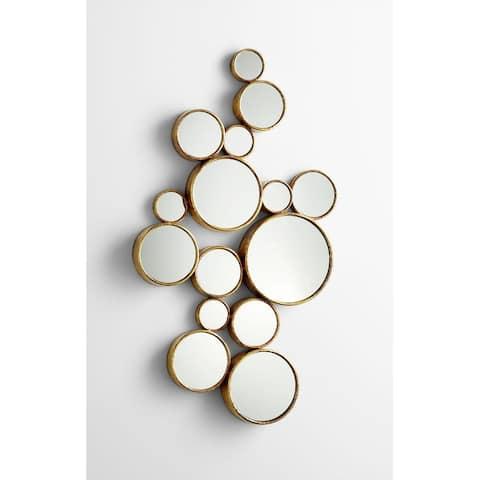 "Cyan Design 05825 41"" Bubbles Mirror - Gold"