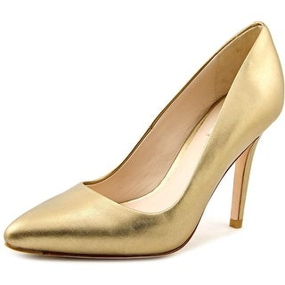Cole Haan Emery Pump 100 Women Pointed Toe Leather Gold Heels