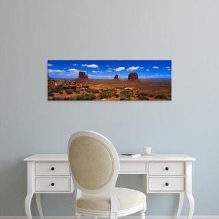Easy Art Prints Panoramic Images's 'Monument Valley UT AZ' Premium Canvas Art