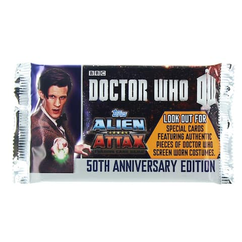 Doctor Who Alien Attax 50th Anniversary Edition Booster Pack - multi