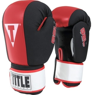 Title Boxing Gel Incite Washable Hook and Loop Heavy Bag Gloves - Black/Red