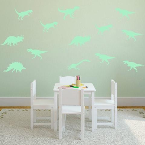 Walplus Peel and Stick Glow In The Dark Dinosaur Wall Stickers Home Room Decor