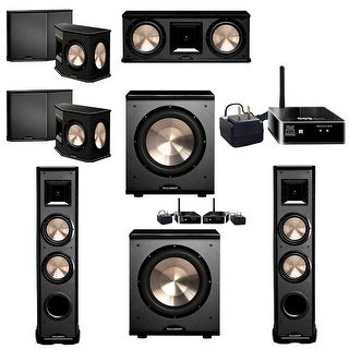 BIC Acoustech 5.2 System with 2 PL-89 II Speakers, PL-200 Wireless Subwoofer, 1 PL-200 Subwoofer, 1 Wireless Add on