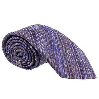 Missoni Diagonal Textured Blue Woven 100% Silk Tie