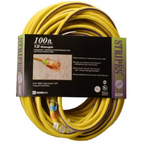 Coleman Cable 02549-88-22 Stripes and Cool Colors Outdoor Extension Cord