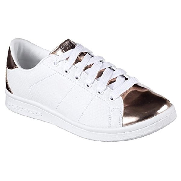 Shop Skechers Women S Omne Jungle Jog Sneaker White Rose Gold 6 5