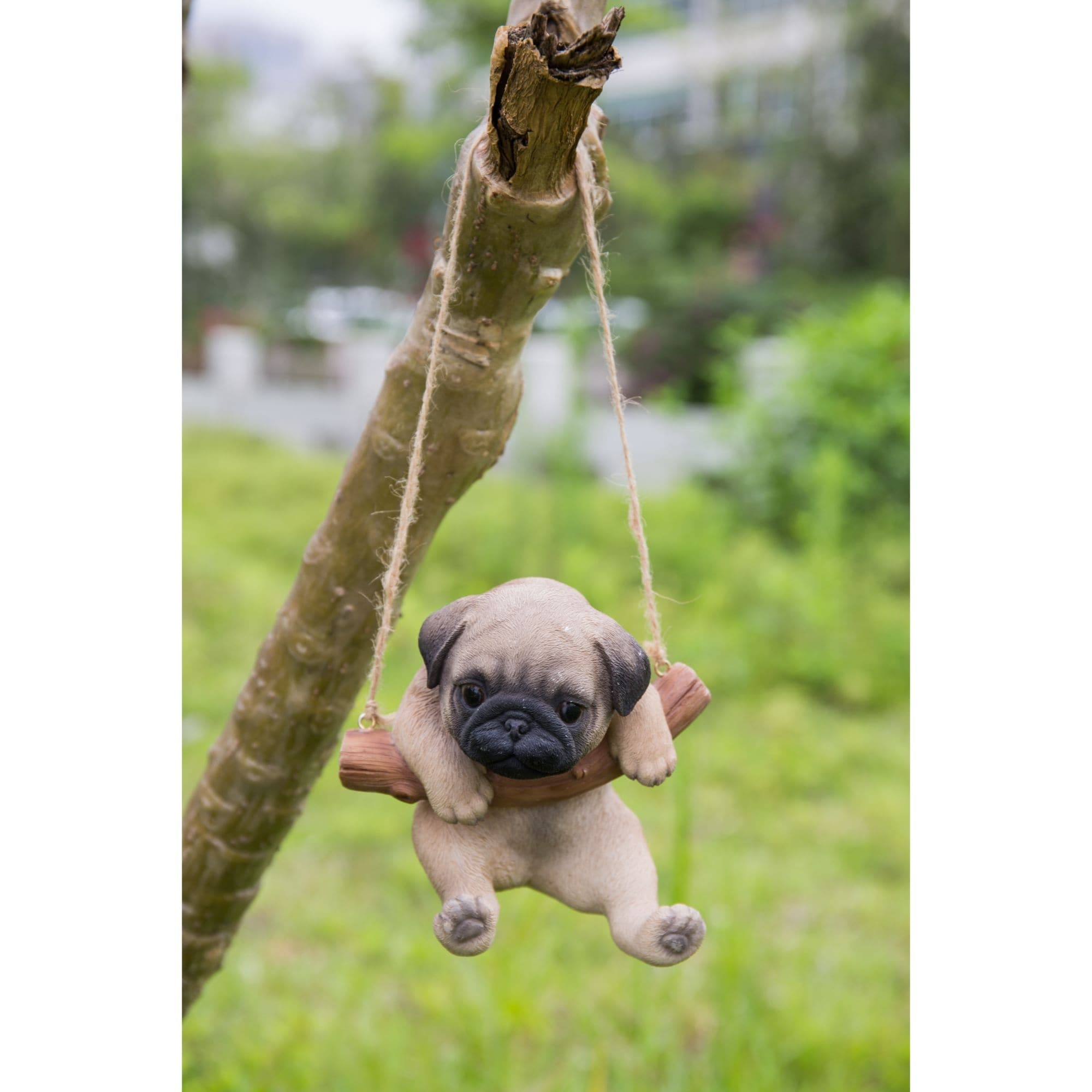 5 Brown And Black Hanging Pug Puppy Statue Overstock 30696764