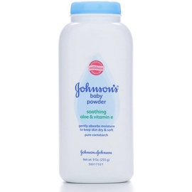 JOHNSON'S Baby Powder, Pure Cornstarch with Soothing Aloe & Vitamin E 9 oz