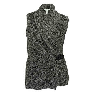 Charter Club Women's Marled Metallic Vest Sweater