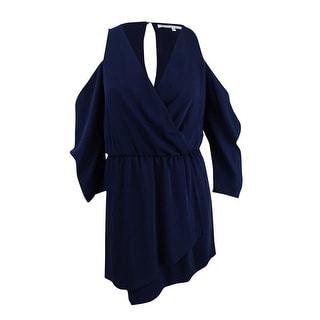 Rachel Roy Women's Cold-Shoulder Blouson Dress (6, Navy) - Navy - 6