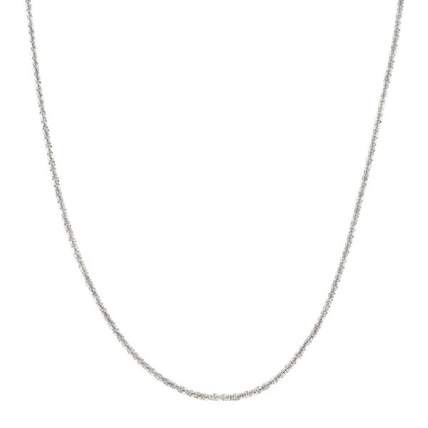 Criss-Cross Chain Necklace in Sterling Silver - White