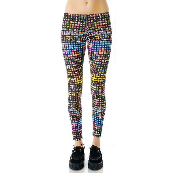 b44c7742 Zara Terez NEW Black Women's Size Medium M Emoji Print Leggings Pants