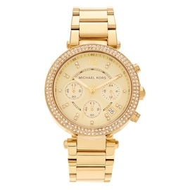 Michael Kors Women's 'Parker' MK5354 Goldtone Stainless Steel Chronograph Bracelet Watch