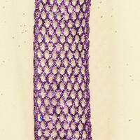 "Metallic Purple Wired Mesh Craft Ribbon 1.5"" x 40 Yards"