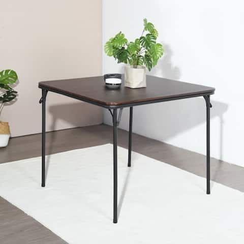 """33.7"""" Square Portable Folding Table Home Dining Table - dining table"""