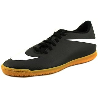 Nike Bravata IC Men Round Toe Leather Black Sneakers