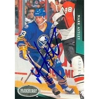 Mark Astley Autographed Hockey Card Buffalo Sabres 1993 Parkhurst