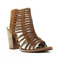 Dolce Vita Womens Brown Open Toe Heels Size 9.5