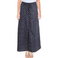 Lauren Ralph Lauren Womens Maxi Skirt Printed Split Hem