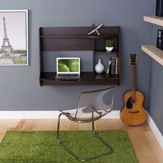 Link to Espresso Wall-Mount Modern Floating Desk for Laptop Computer or Tablet Similar Items in Desks & Computer Tables