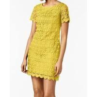 Jessica Howard Yellow Women's Size 14  Floral Lace Sheath Dress
