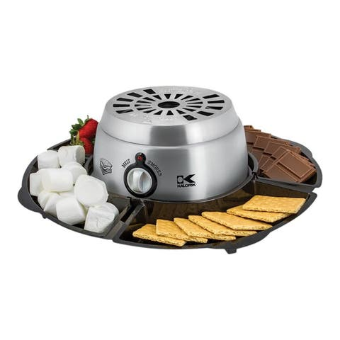 Kalorik 2-in-1 S'mores Maker With Chocolate Fondue Function, Stainless Steel Refurbished