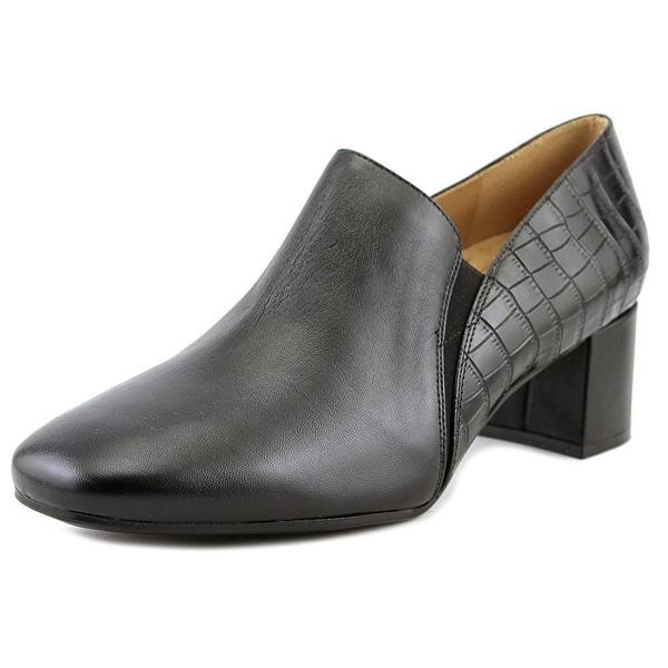 Naturalizer Novara Women W Round Toe Leather Black Loafer