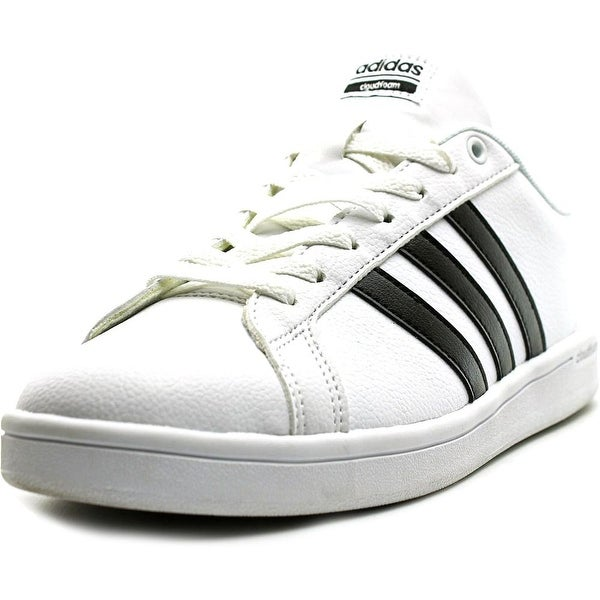 Adidas Cloudfoam Advantage Women Round Toe Leather White Sneakers